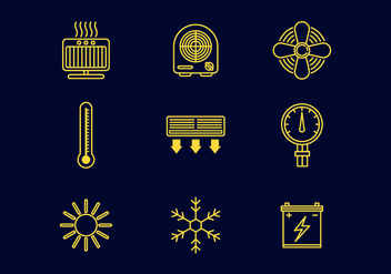 Free Heating Line Icons Vector - vector #377035 gratis