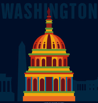 Washington travel poster - бесплатный vector #377075