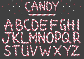 Peppermint Candy Letter Vectors - бесплатный vector #377165