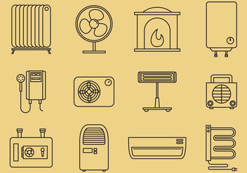 Home Heating Icons - vector #377255 gratis