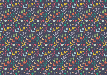 Plants Vector Pattern - Kostenloses vector #377265