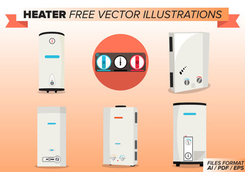 Heater Free Vector Illustrations - бесплатный vector #377385