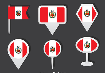 Peru Flag Vector Set - Kostenloses vector #377455