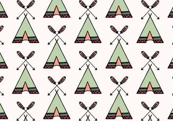 Free Vector Tipi Pattern - Free vector #377475
