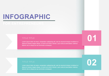 Simple Ribbon Infography - vector gratuit #377485