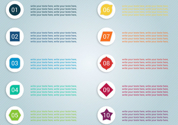 Free Number Bullet Points Vector - Kostenloses vector #377495