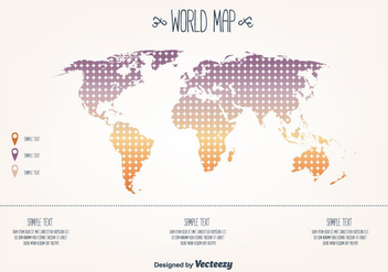 Free World Map Vector - Kostenloses vector #377545