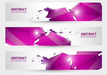 Free Abstract Banner Vector - Free vector #377555