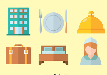 Hotel Flat Iocns Vector - Free vector #377565