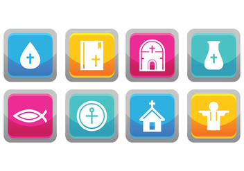 Free Reilgion Icon Set - vector gratuit #377665