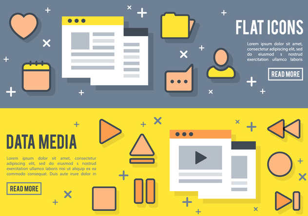 Free Flat Media Player Icons Vector - Free vector #377675