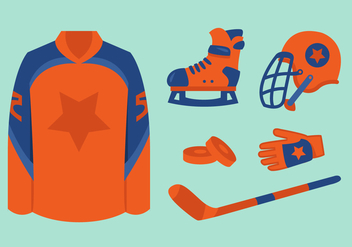Vector Hockey Equipments - Kostenloses vector #377785