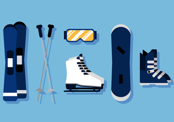 Vector Ski Equipments - vector gratuit #377815
