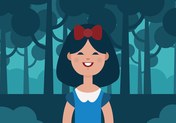 Vector Snow White Princess - бесплатный vector #377875