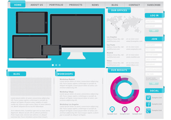 Web Template With Sections - vector #377935 gratis