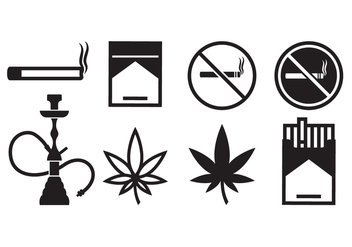 Free Smoking Icons - vector gratuit #377955
