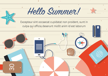 Free Summer Beach Background Vector - бесплатный vector #377965