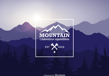 Free Mountain Landscape Vector Illustration - vector gratuit #378005