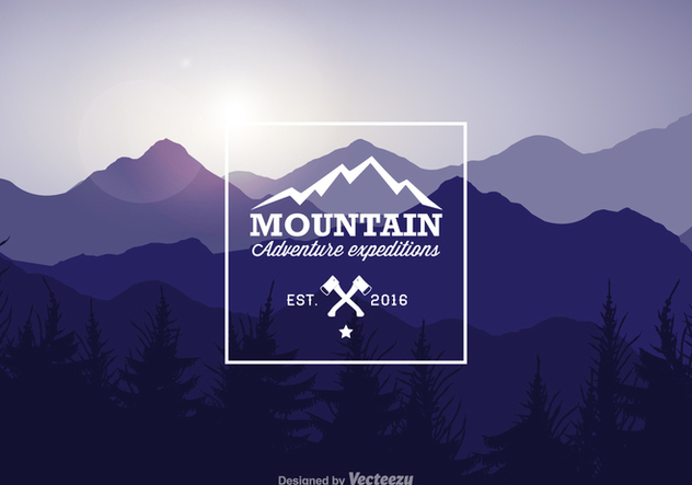 Free Mountain Landscape Vector Illustration - vector #378005 gratis