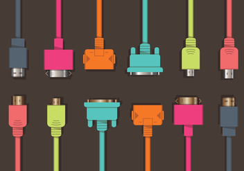 Colorful HDMI Vector Set - vector gratuit #378025