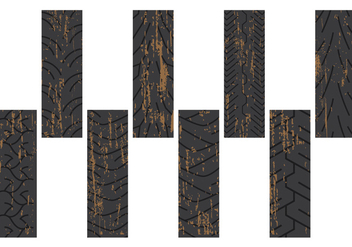 Dirty Tire Marks - vector gratuit #378035