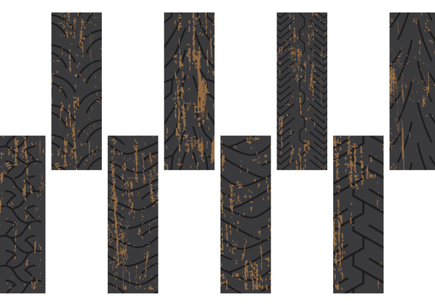 Dirty Tire Marks - Kostenloses vector #378035