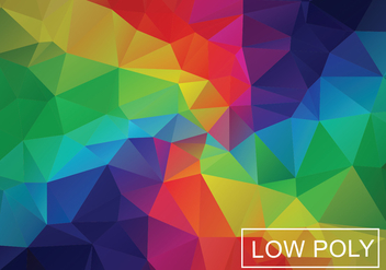 Rainbow Geometric Low Poly Style Illustration Vector - Free vector #378085