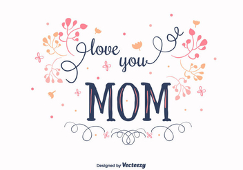 Mom Vector Background - бесплатный vector #378105