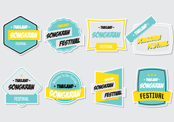 Songkran Stickers - бесплатный vector #378165