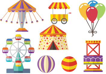 Free Circus and Fair Icons Vector Pack - Free vector #378175