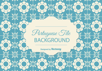 Portuguese Tile Background - vector gratuit #378205