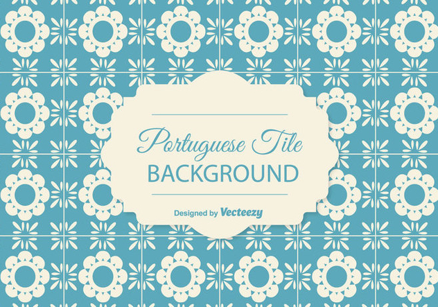 Portuguese Tile Background - Free vector #378205