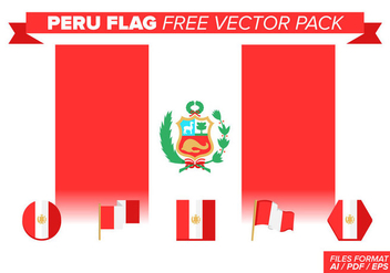 Peru Flag Free Vector Pack - бесплатный vector #378455