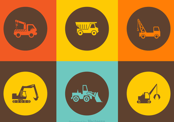 Free Vector Construction Truck Icons - Free vector #378485
