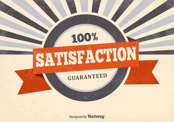 Retro Satisfaction Guaranteed Background - Free vector #378515