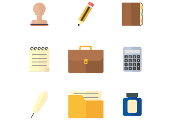 Office Stuff Flat Icon - vector gratuit #378535