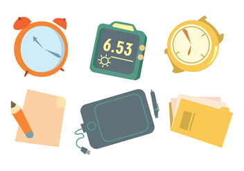 Time Is Money Vector Set - Free vector #378545