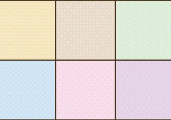 Pastel Color Patterns - vector gratuit #378555