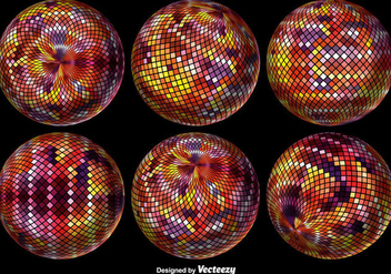 Abstract Pixelated Sphere. Vector illustration. - vector gratuit #378565