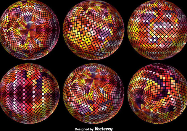 Abstract Pixelated Sphere. Vector illustration. - Free vector #378565