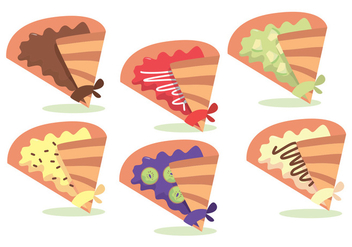 Crepes Vector Set - Kostenloses vector #378575