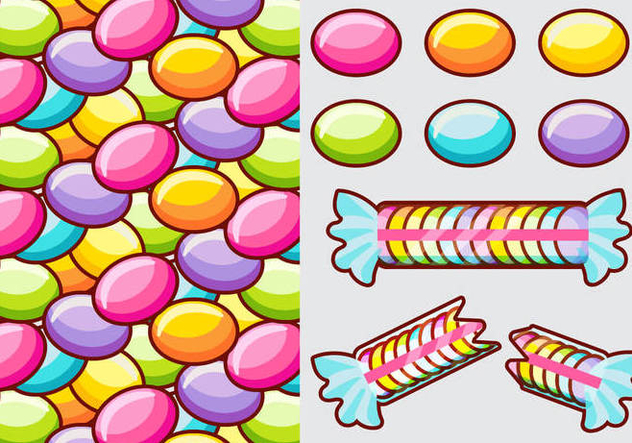 Smarties Candy Vector Elements - Free vector #378675