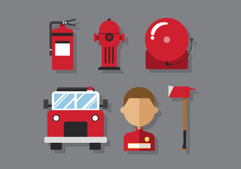 Vector Firefighter - Free vector #378685