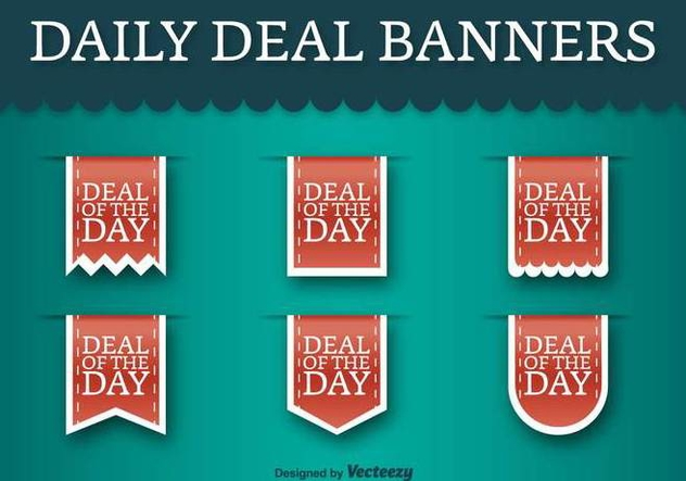 Deal Of The Day Vector Labels - Vector Discount Tags - Kostenloses vector #378705