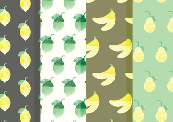 Vector Fruit and Citrus Patterns - vector gratuit #378755