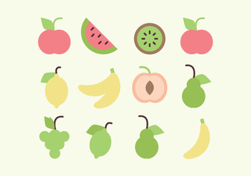 Vector Fruit Collection - vector gratuit #378775