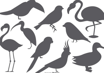 Vector Bird Shape Collection - бесплатный vector #378805