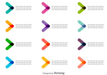 Vector Colorful Bullet Points - Kostenloses vector #378855