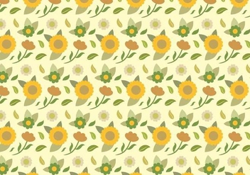 Yellow Floral Pattern - vector #378885 gratis