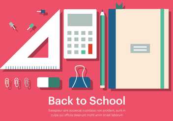 Free Back to School Vector Illustration - Free vector #379095